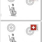 Pro Patria - The Swiss Flag - FDC Single Stamp