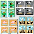 Animals Around the World - Block of 4 Mint
