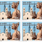1000 Years Basel Cathedral - Block of 4 Mint