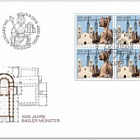 1000 Years Basel Cathedral - FDC Block of 4