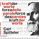 Carl Spitteler 100 Years Nobel Prize in Literature 1919–2019