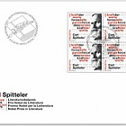 Carl Spitteler 100 Years Nobel Prize in Literature 1919–2019 - FDC Block of 4