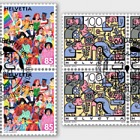 Joint Issue Switzerland-Liectenstein, Social Diversity (Swiss Stamps) - Block of 4 CTO