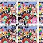 Joint Issue Switzerland-Liectenstein, Social Diversity (Swiss Stamps) - Full Sheet 20 Stamps CTO - Crowd of People