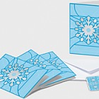 Christmas 2019 - Set of 4 A6 Folded Cards - Snowflake