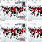 Ice Hockey World Championship in Switzerland -  Team Sheetlet x10 Stamps Mint
