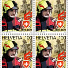 150 Years Swiss Fire Brigade Association - Block of 4 Mint