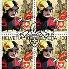 150 Years Swiss Fire Brigade Association - Block of 4 CTO