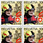 150 Years Swiss Fire Brigade Association - Sheet x20 Stamps Mint