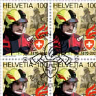 150 Years Swiss Fire Brigade Association - Sheet x20 Stamps CTO