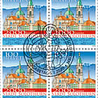 2000 Years Solothurn Town - Block of 4 CTO