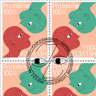 100th Anniversary of Pro Infirmis - Sheet x16 Stamps CTO