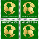 125 Years Swiss Football Association - Block of 4 Mint