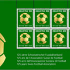 125 Years Swiss Football Association - Sheetlet x8 Stamps Mint