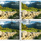 50 years of the Swiss Foundation for Landscape Conservation - Block of 4 CTO