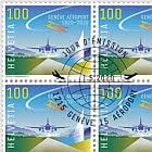 100 Years Geneva Airport - Sheet x20 Stamps CTO
