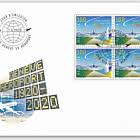 100 Years Geneva Airport - FDC Block of 4