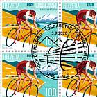 2020 UCI Road World Championships Aigle-Martigny - Sheet x 20 Stamps CTO