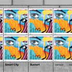Street-Art – Smart City - Bustart - Sheet x 8 Stamps Mint