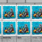 Street-Art – Smart City - Zaira- Sheet x 8 Stamps Mint
