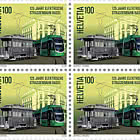 125 Years Basel Electric Tram - Block of 4 Mint