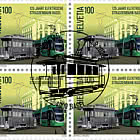 125 Years Basel Electric Tram - Block of 4 CTO