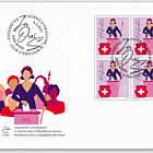 50 Years Women's Suffrage - FDC Block of 4