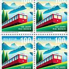 150 Years of Rigi Railways - Block of 4 - Mint