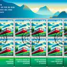 150 Years of Rigi Railways - Sheet x 10 Stamps - CTO