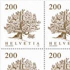 Trees - Swiss Stone Pine Sheet x 12 Stamps - Mint
