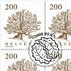 Trees - Swiss Stone Pine Sheet x 12 Stamps - CTO