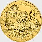 Niue - Gold 1 oz bullion coin Czech Lion 2018 reverse proof