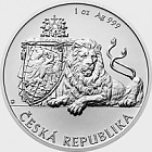 Niue - Silver 1 oz bullion coin Czech Lion 2018 stand
