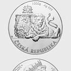 Nioué - Pièce d'argent de 1 kilo en lingots Lion tchèque 2018