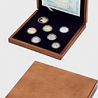 Set of circulation coins 2018 proof - wooden case