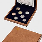 Set of 2017 circulation coins proof - wooden case