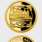 Niue - Gold coin First Stamp of Czechoslovakia proof