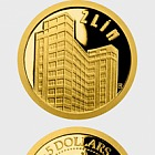 Niue - Gold coin Zlín - Baťa's Skyscraper proof