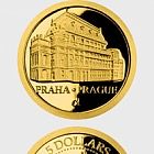 Niue - Gold coin Prague - National Theatre proof