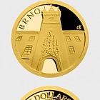 Niue - Gold coin Brno - Old Town Hall proof