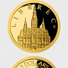 Niue - Gold coin Liberec - Liberec Town Hall proof