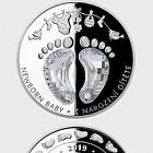 Niue - Silberkristallmünze - Zur Geburt eines Kindes