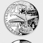 Niue - Silbermünze Erfindungen von Leonardo da Vinci - Aerial Screw