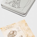 Sammlerkassette für 4 Silbermünzen der Erfindungen von Leonardo da Vinci