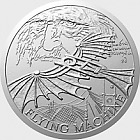 Niue - Silver coin Inventions of Leonardo da Vinci - Flying Machine proof