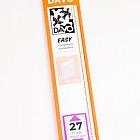 Easy mounts transparent T27 (215 x 31) 25 pcs.