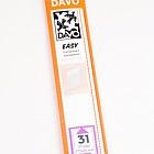 Easy mounts transparent T31 (215 x 35) 25 pcs.