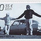 25th Ann of the Baltic Chain. Joint Estonian, Latvian & Lithuanian issue