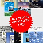 Year Pack Offer 1 - BUY 12 to 16 for 145€ & get 91 to 95 FREE! SAVE €48.82!