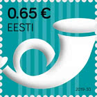 Definitive Stamp, Post Horn €0.65 Reprint